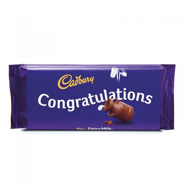 Personalised Cadbury Dairy Milk - Congratulations