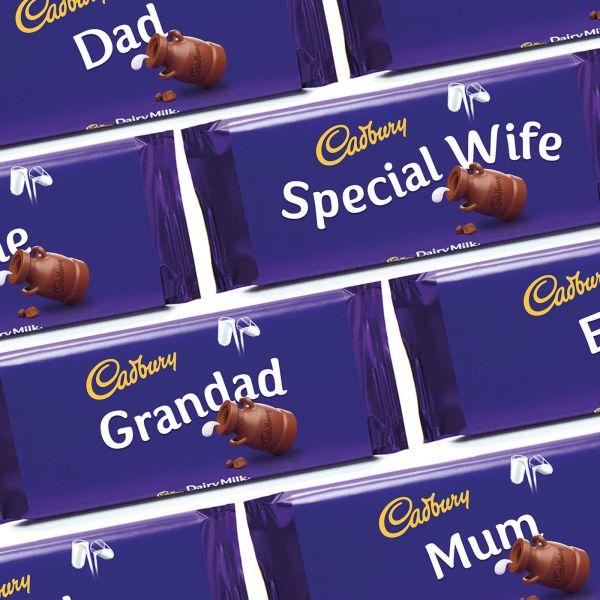 Personalised Relations Cadburys Dairy Milk Chocolate