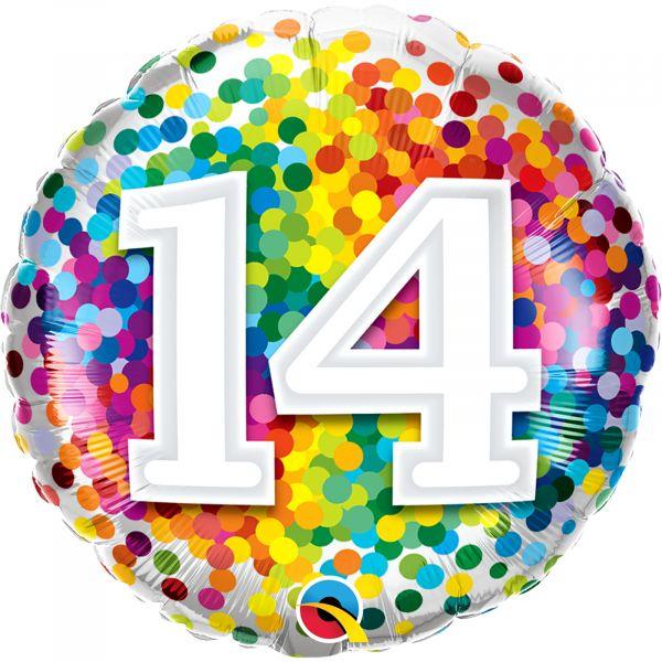 Rainbow Confetti Balloon 14