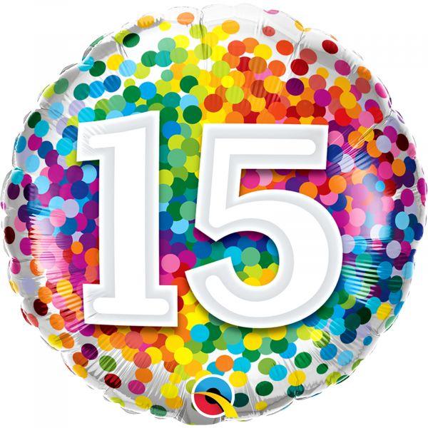 Rainbow Confetti Balloon 15