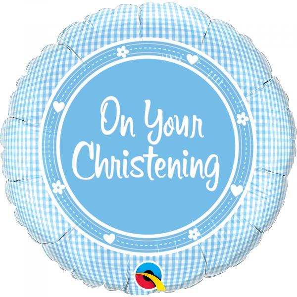 On Your Christening Boy Balloon
