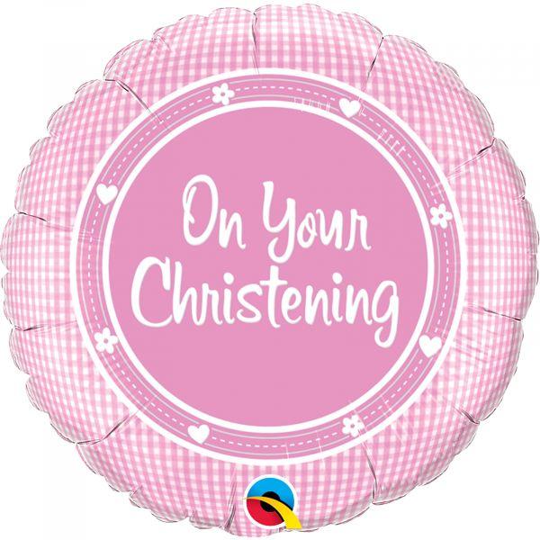 On Your Christening Girl Balloon