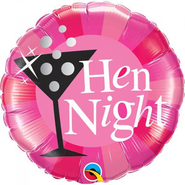 Hen Night Pink Balloon