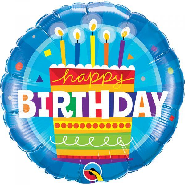 Birthday Cake Blue Balloon