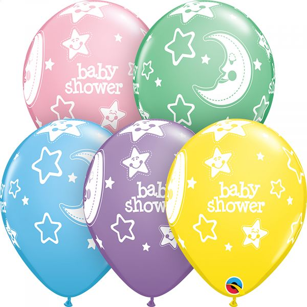 Latex Balloons Baby Shower (Pack of 6)