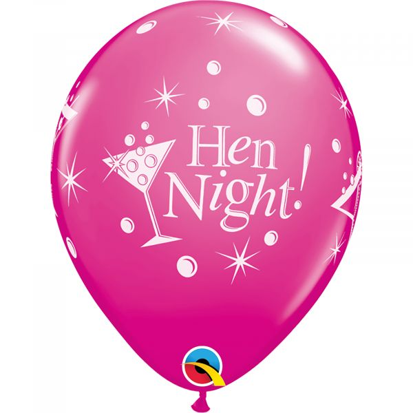 Latex Balloons Hen Night (Pack of 6)