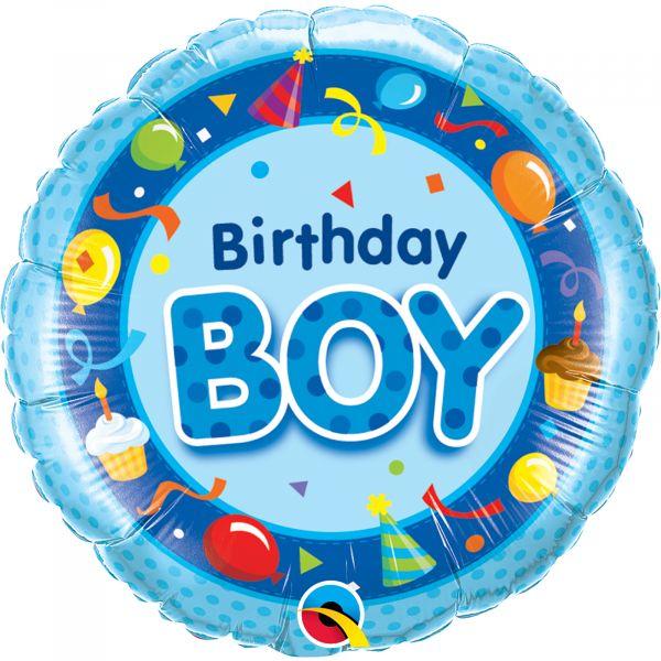 Birthday Boy Blue Balloon