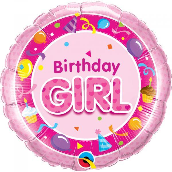 Birthday Girl Pink Balloon