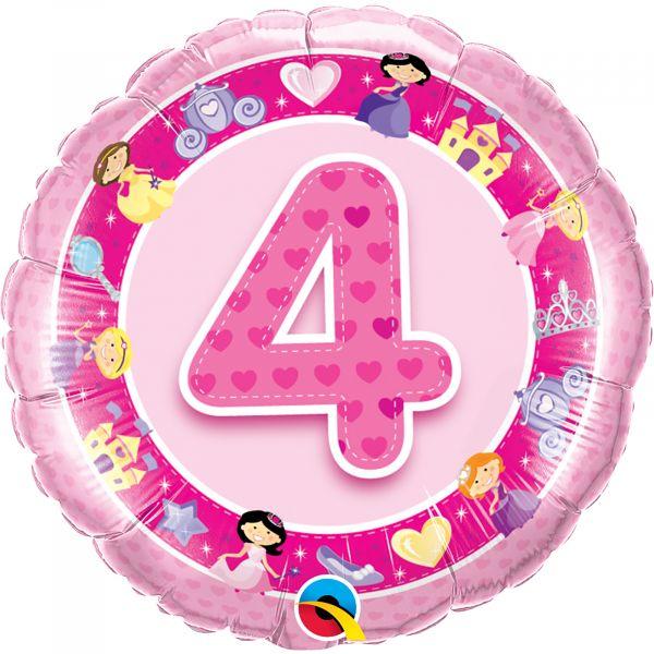 Age 4 Pink Princess Balloon