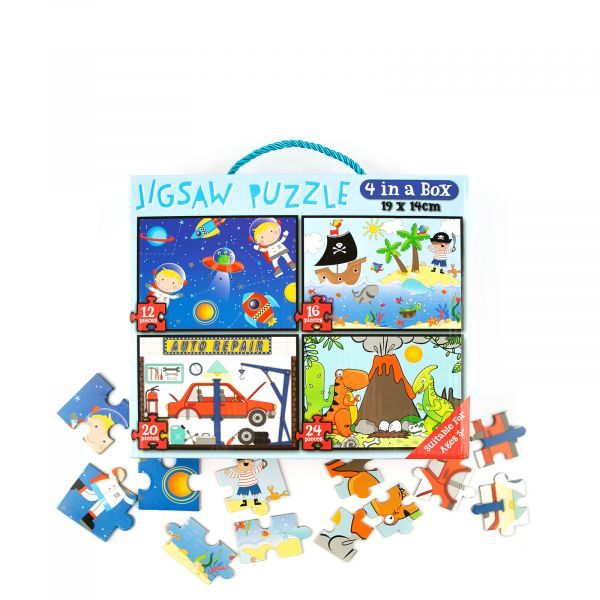 Jigsaw Puzzle for Boys, 72 piece, 4 in 1
