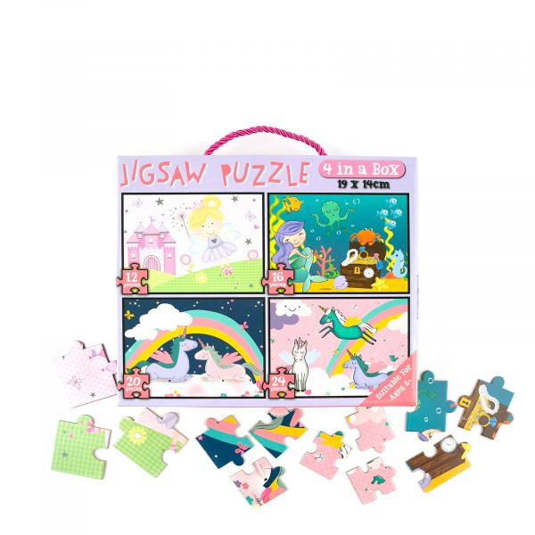 Jigsaw Puzzle for Girls, 72 piece, 4 in 1