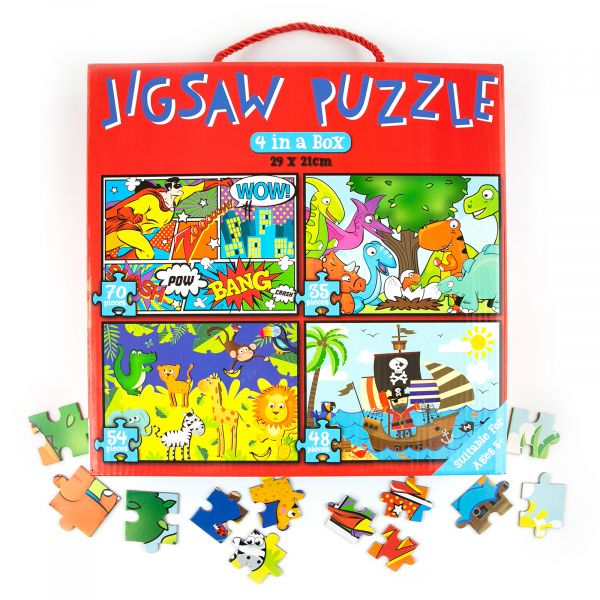 Jigsaw Puzzle for Boys, 207 piece, 4 in 1