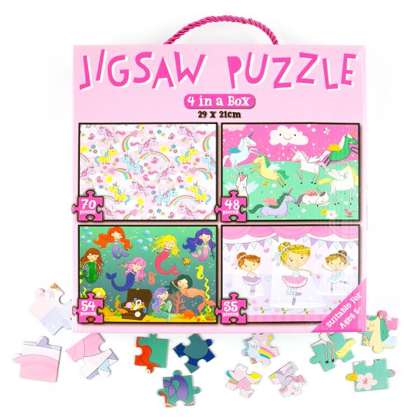 Jigsaw Puzzle for Girls, 207 piece, 4 in 1
