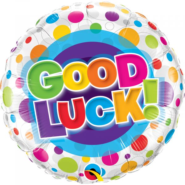 Good Luck Colorful Dots Balloon