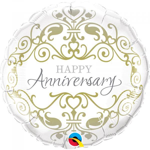 "Anniversary Classic , 18"" Foil Round Balloon"