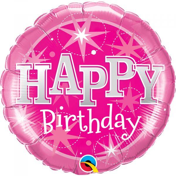 Birthday Pink Sparkle Balloon