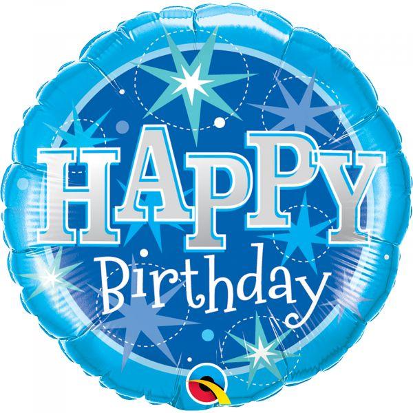 Birthday Blue Sparkle Balloon