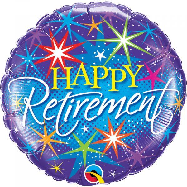 Retirement Colorful Bursts Balloon
