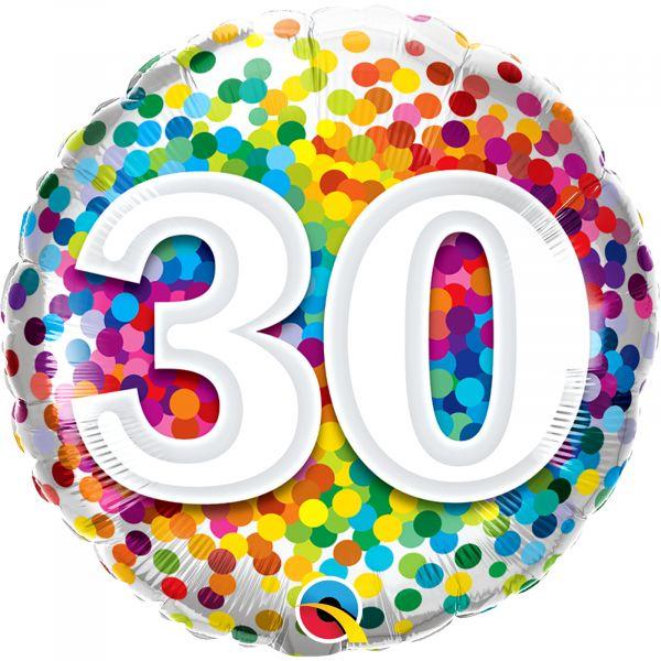 Rainbow Confetti Balloon 30