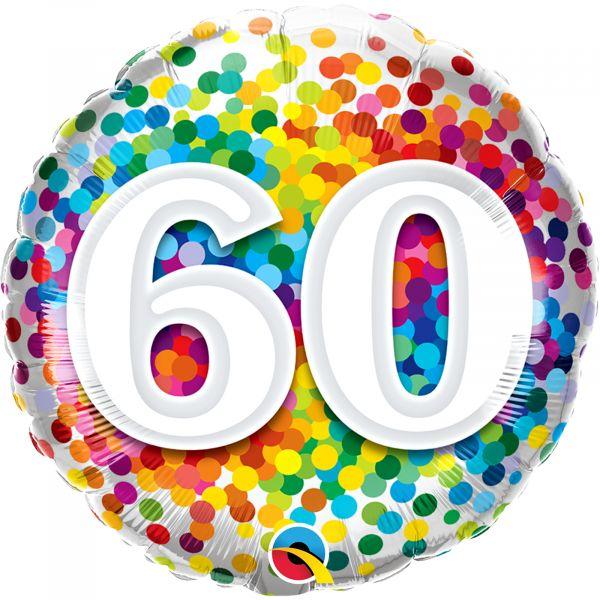 Rainbow Confetti Balloon 60
