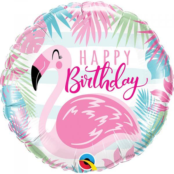 Birthday Pink Flamingo Balloon