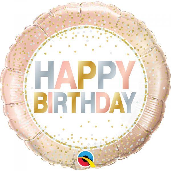 Birthday Metallic Dots Balloon