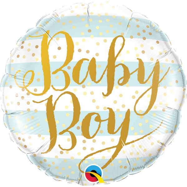 Baby Boy Blue Stripes Balloon