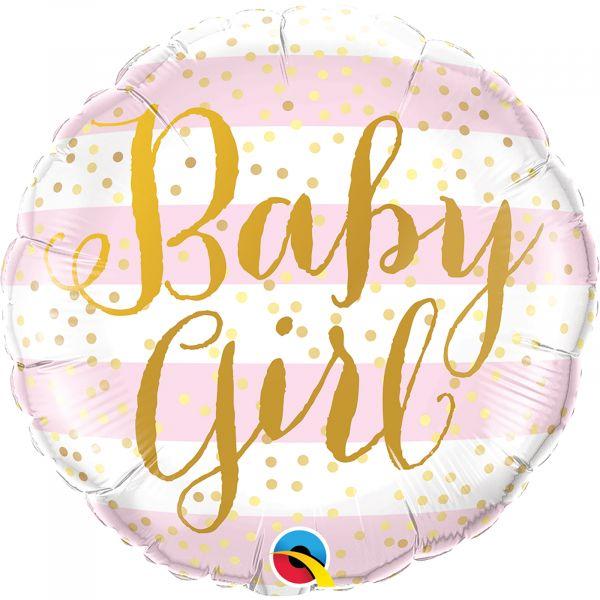 Baby Girl Pink Stripes Balloon