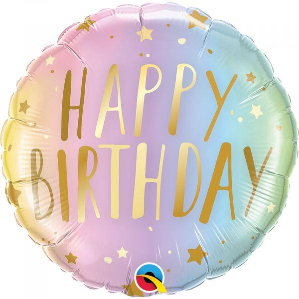Birthday Pastel Ombre  Star Balloon