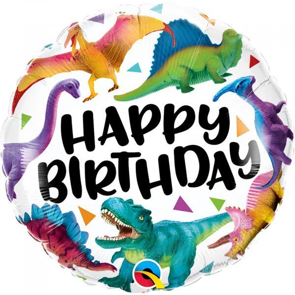 Birthday Colorful Dinosaurs Balloon
