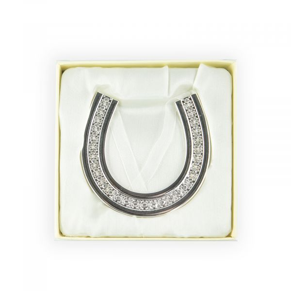 Wedding Clear Crystals Horse Shoe