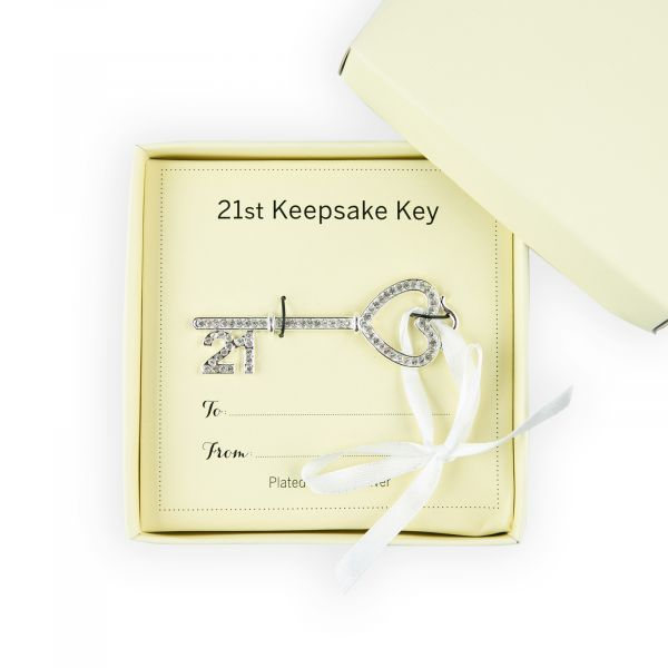 Age 21 Key Ornament with Crystals