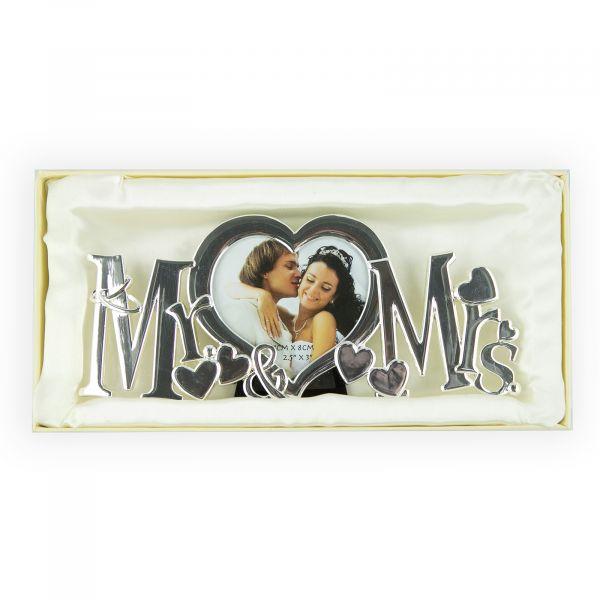 Wedding Mr & Mrs Heart Photo Frame