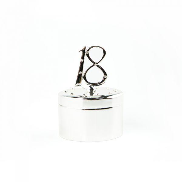 Age 18 Oval Jewellery Gift Box