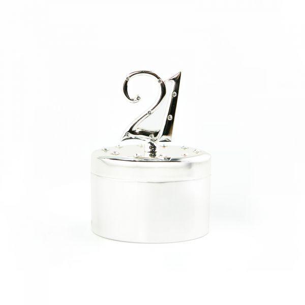 Age 21 Oval Jewellery Gift Box