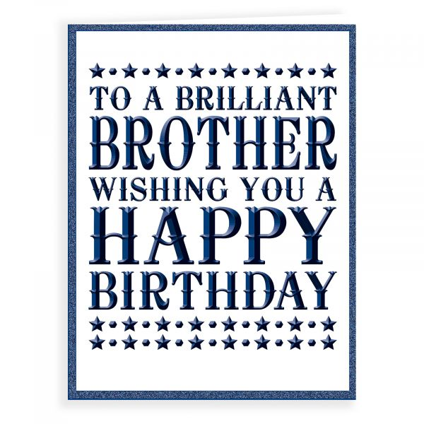 Birthday Card Brother, Foil Tyoe