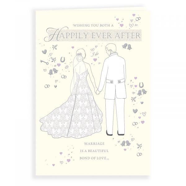 Wedding Card, Couple On Cream