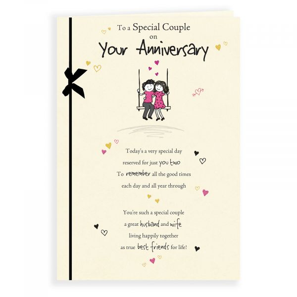 Anniversary Card Your, Couple Sitting On Swing