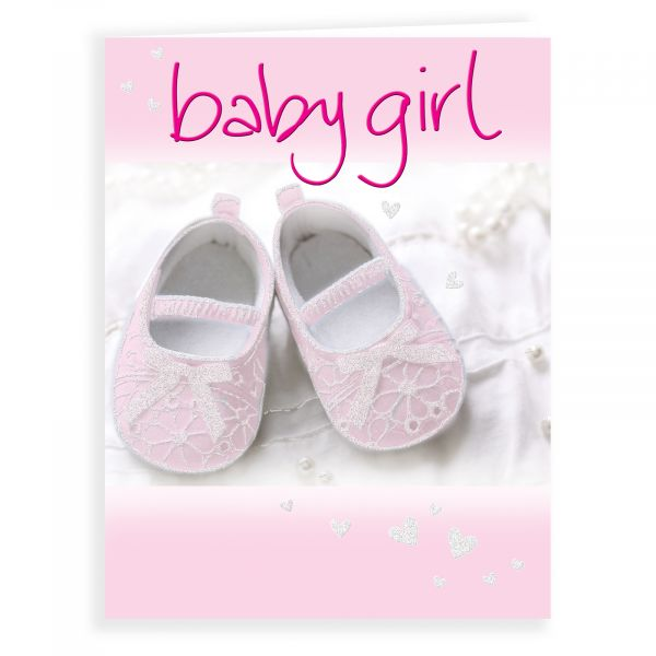 Baby Card Baby Girl, Booties