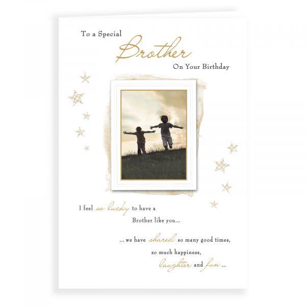 Birthday Card Brother, Children Sunset