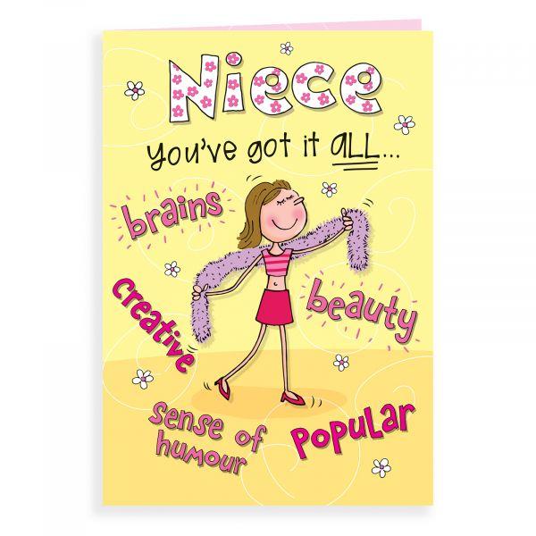 Birthday Card Niece, You've Got It All