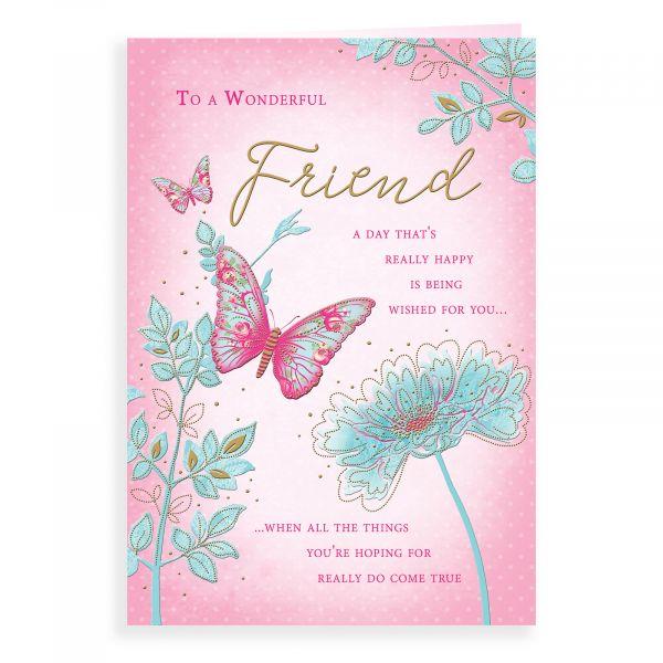 Birthday Card Friend, Floral