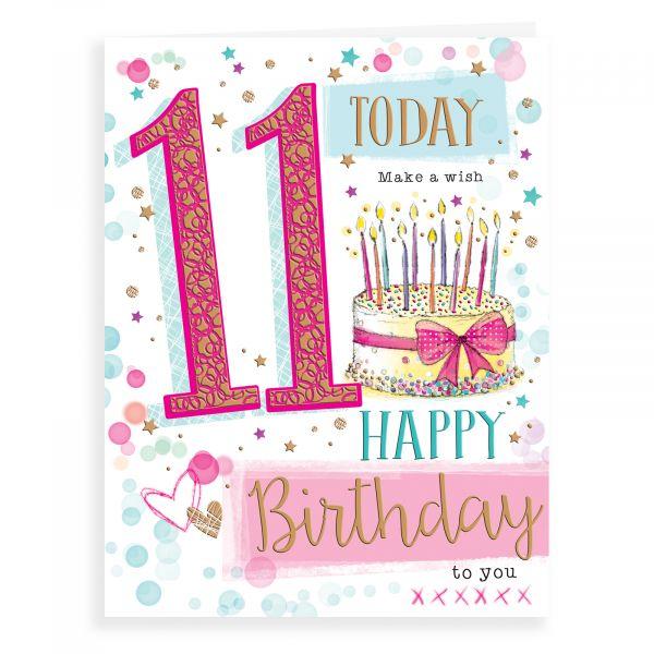 Birthday Card Age 11 F