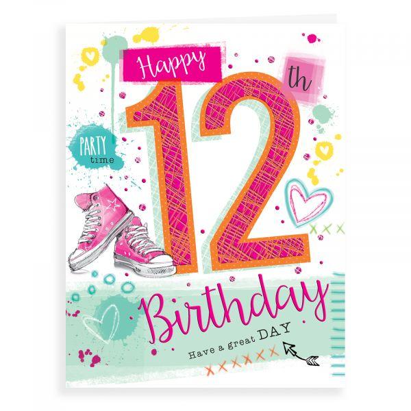 Birthday Card Age 12 F