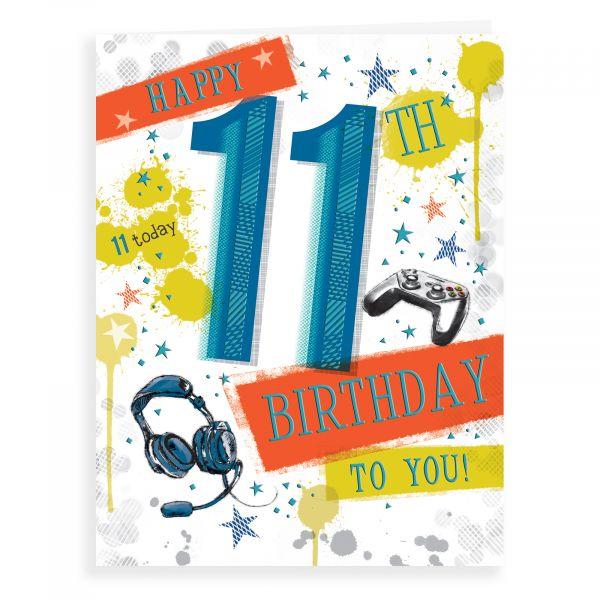 Birthday Card Age 11 M