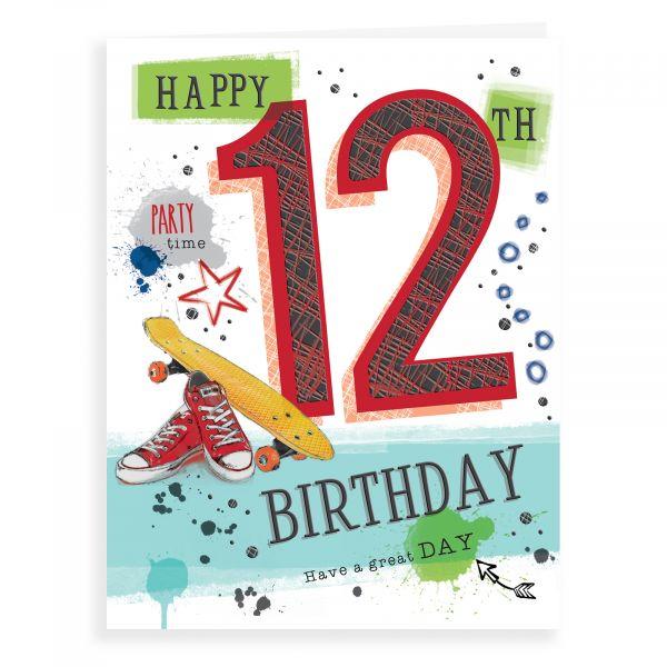 Birthday Card Age 12 M