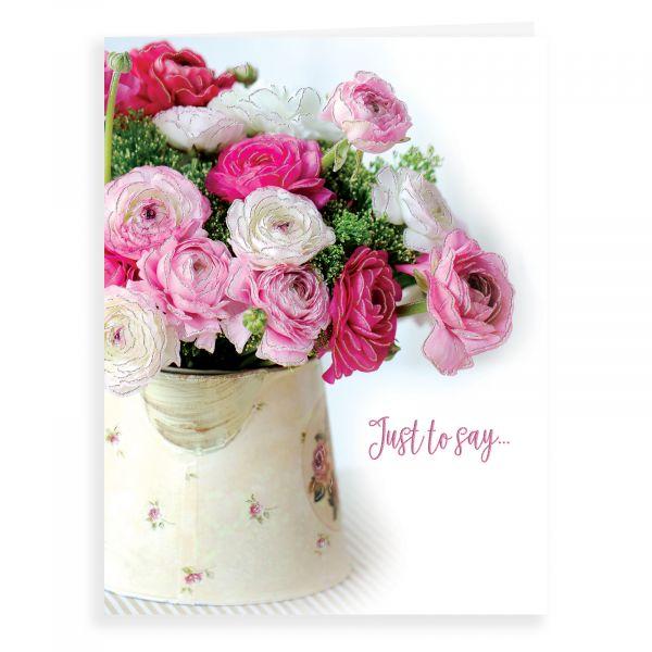 Blank Card, Flowers in Jug