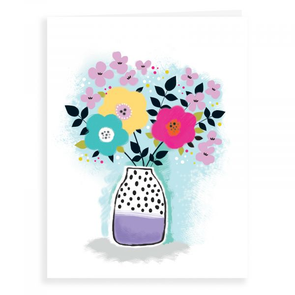 Blank Card, Graphic Flowers