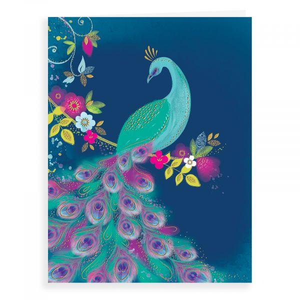 Blank Card, Peacock