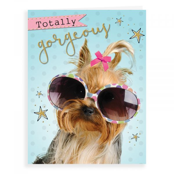 Blank Card, Dog with Glasses